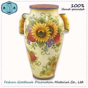 Wholesale Cheap Hot New Product Indoor Floor Yellow Large Round Vase