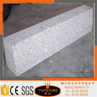 cheap grey granite G341 curbstone/ flamed curb paving stone