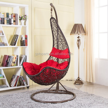 Swing Chair For Bedroom Single Seat Iron Hanging Chair Cushion