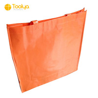 China factory cheap folding eco friendly recycle reusable PP laminated non woven tote shopping bag