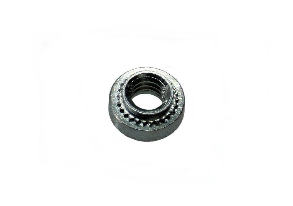 Unicorp ES-832-0 Round Captive Nut Self-Clinching, 8-32 Thread x .030 thk, Steel Zinc QTY-10