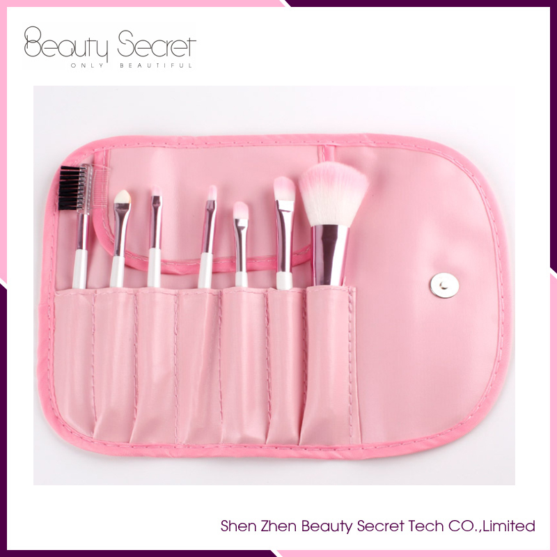 7 Pcs Make Up Tools brush Professional Superior Soft Cosmetic Makeup Brush Set with Pouch Bag Case