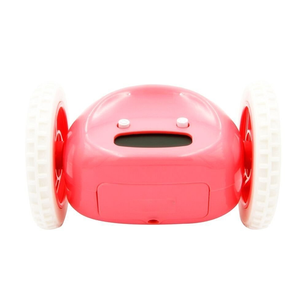 Aibrou Cute Runaway Alarm Clock Funny Hide and Seek Alarm Clock on Wheels Alarm Clock for Heavy Sleepers (Red)