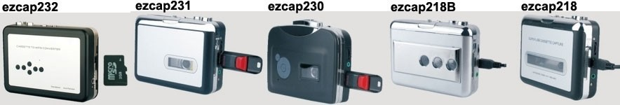 ezcap231 Portable Walkman Tape Player Cassette Tape to mp3 Converter Recorder Capture Directly to USB Disk no PC Required