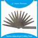 Hardened alloy steel Thickness Screw Pitch Feeler Gauge 13 17 20 28 32 Blades/Leaves Factory From China Supplier