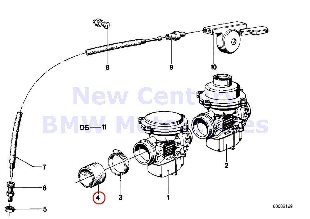 2 x BMW Genuine Motorcycle Carburetor-Choke Cable Rubber Grommet D=52MM R80G/S R80ST R65 R80 R80RT R100/7T R100/T R75/6 R90/6 R75/7 R80 R80RT R65 R65LS