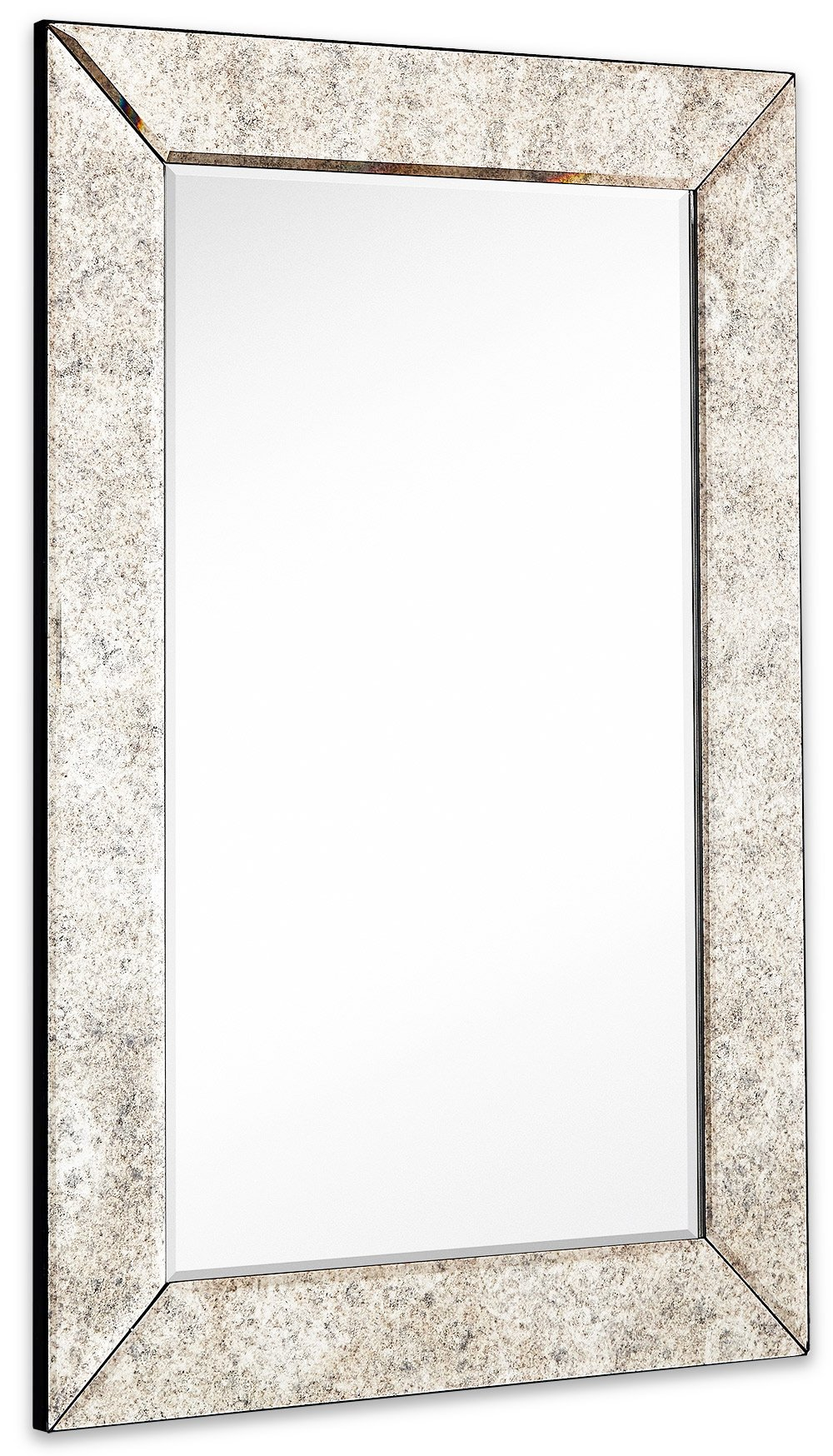 a3bfb55fb4de Get Quotations · Large Antiqued Framed Wall Mirror 3.5 inch Antique Frame  Rectangular Mirrored Glass Panel