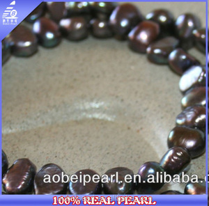 wholesale 9-10mm dark purple freshwater pearls price baroque cultured