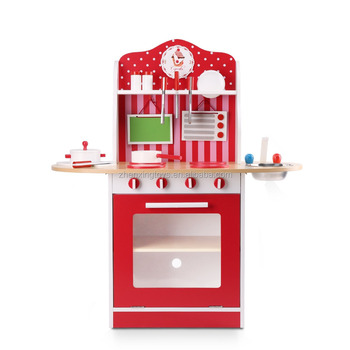 EN71 Certificated Kids Wooden Kitchen Play Set