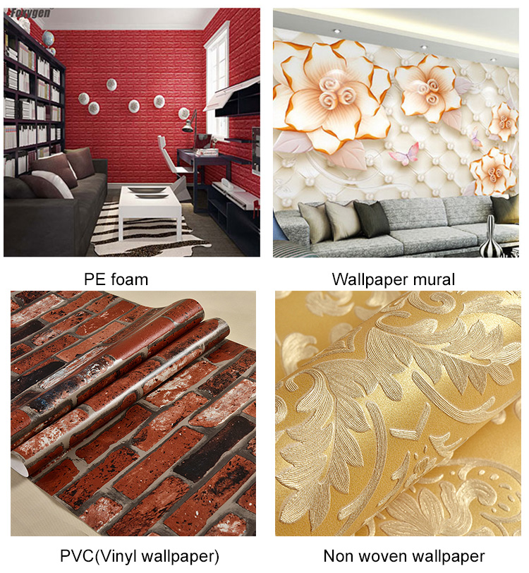Eco-solvent printable wallpaper / wall paper for printing / wall decals for printing