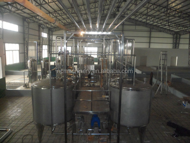 Complete small UHT/Pasteurized milk processing line with pouch,bottle,and carton package