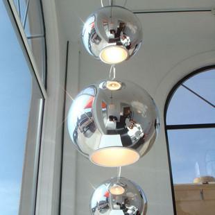 <font><b>Italian</b></font> art form silver ball chandelier modern living room with fashion shops Bar Cafe <font><b>decorative</b></font> lighting