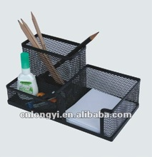 Mesh Wire Stationery Combine Pen &Clips&Memo Holder