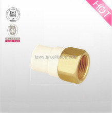 "ASTM D2846 CPVC 1/2"" to 4"" brass thread female coupling pipe fitting"