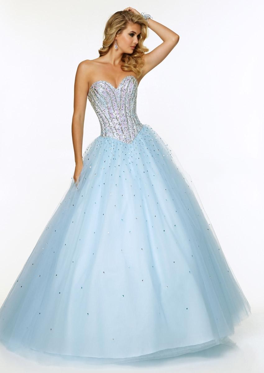 Cheap Light Blue Prom Dress Ball Gown, find Light Blue Prom Dress ...
