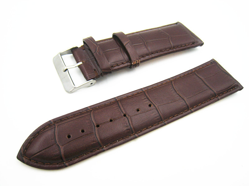 watch Deep Brown watchband strap watch strap 26mm genuine leather watch strap Bamboo texture straps for wrist watches