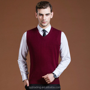 Business comfortable waistcoat mens fine knit wool sweater high fashion