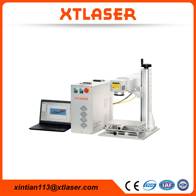 Portable CNC fiber laser printing machine with laptop for photo