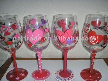 valentine wine glass - Valentine Wine Glasses