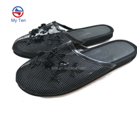 2018 New Arrival Design Indoor And Outdoor Fashion Women Beaded Slippesr Mesh Slipper
