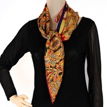 MDE304 china style women fashion online shop 100 % silk scarves