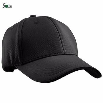 plain blank 100% polyester lightweight belt strap mens black baseball caps  no logo d5905b20403