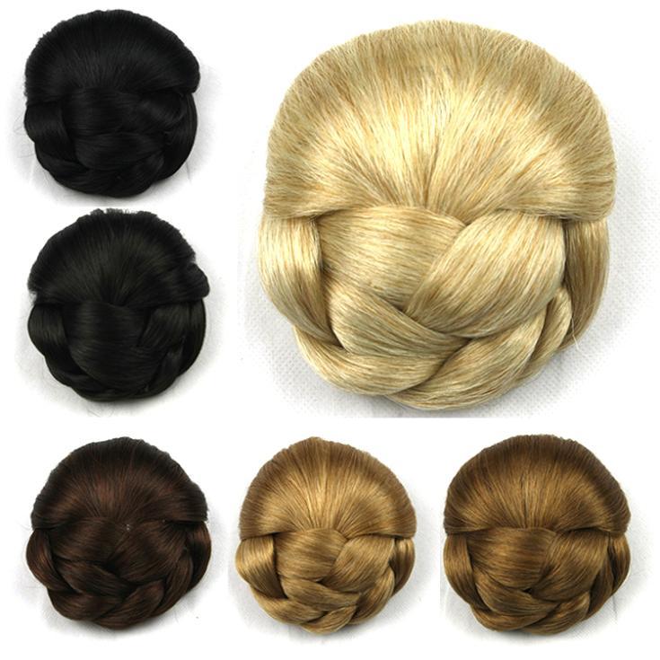 Плетеный ролик в волосы булочки, волосы шиньон, роликовые шиньоны donut, 1 шт.