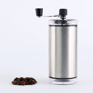 High quality metal colour stainless steel coffee maker with grinder