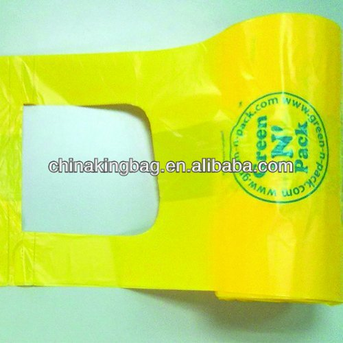 Printed Promotional t shirt plastic bag in <strong>roll</strong>