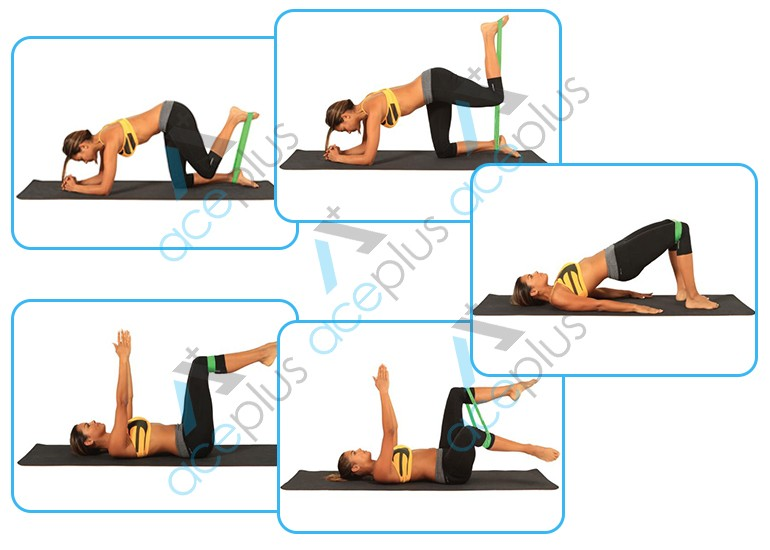 Abundant Stock Ab Exercises With Continuous Loop Resistance Bands