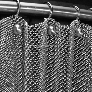 Beautiful Stainless Steel Mesh Chain Link Curtain For Hall