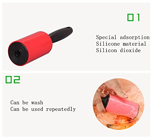 Household use washable magic sticky lint roller with plastic cover