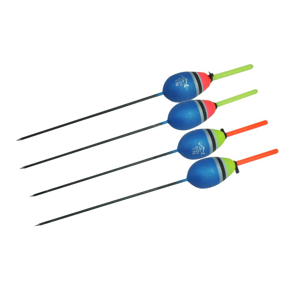 Topline Tackle 10Pcs Fishing Floats Set Buoy Bobber Fishing Light Stick Floats Fluctuate Mix Size Color float buoy, Red