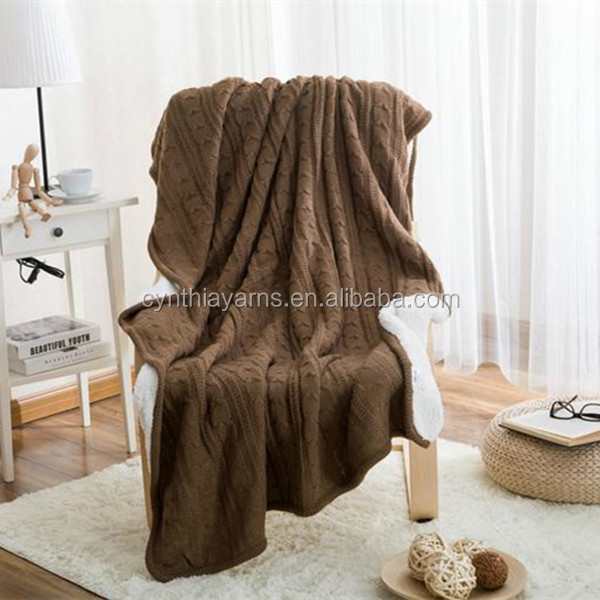Cynthia Heavy Waffle Knit Thick Fringed Throw Blanket