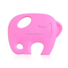 Colorful funny elephant shape FDA Silicone baby Teether for Teething