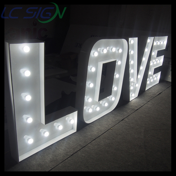 large vintage outdoor metal light up signs marquee letters love led signs