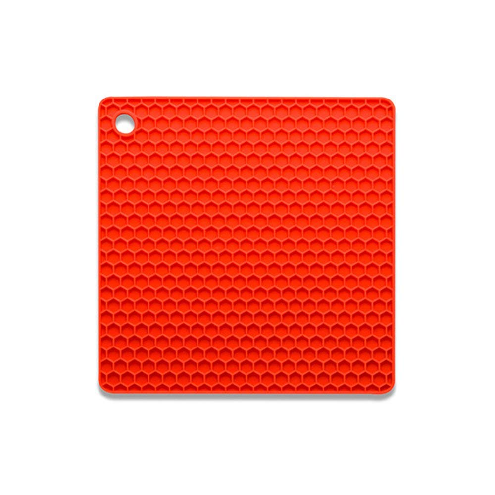HOBOYER Silicone Table Mats Soft Non-Slip Honeycomb Grid Waterproof Heat Resistant Liner Oven Pad for Kids Foods Mats Free FDA[7272inch] (Red)