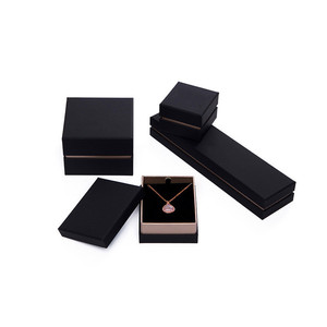 Manufacture list jewelry box packaging,high quality jewellery ring black packaging boxes