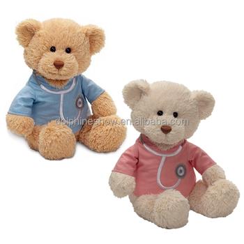 fashion get well soon patient gift cute custom logo plush teddy bear