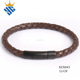 Rustic Brown Leather Bracelet,Men Braided Leather Bracelet,Genuine Leather Bangle