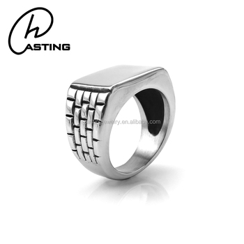 Bulk Simple Design Stainless Steel Mens Blanks Signet Ring