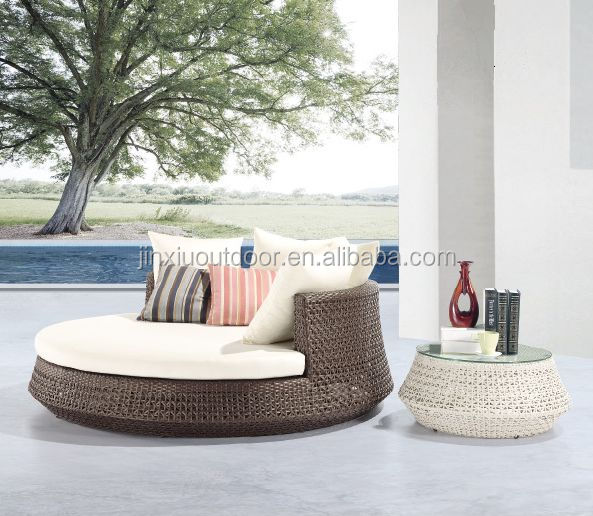 Captivating Outdoor Furniture Rattan Round Sunbed With Canopy Jx 2071   Buy Outdoor  Furniture Sunbed,Rattan Pool Sunbed,Beach Chair Sunbed Outdoor Furniture  Product On ...