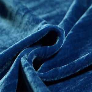 natural dyed silk velvet rayon fabric for bed sheet