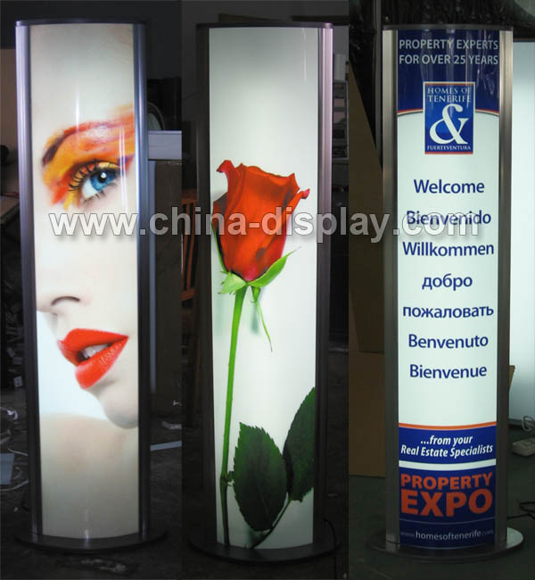 Free Standing Ellipse/Oval Light Boxes Advertising Light Boxes
