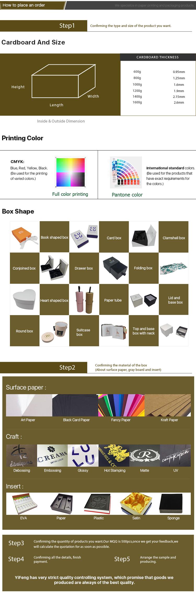 Luxe Custom Logo Hot Stamping Ontwerp Karton Papier Verpakking Geschenkdoos Sieraden