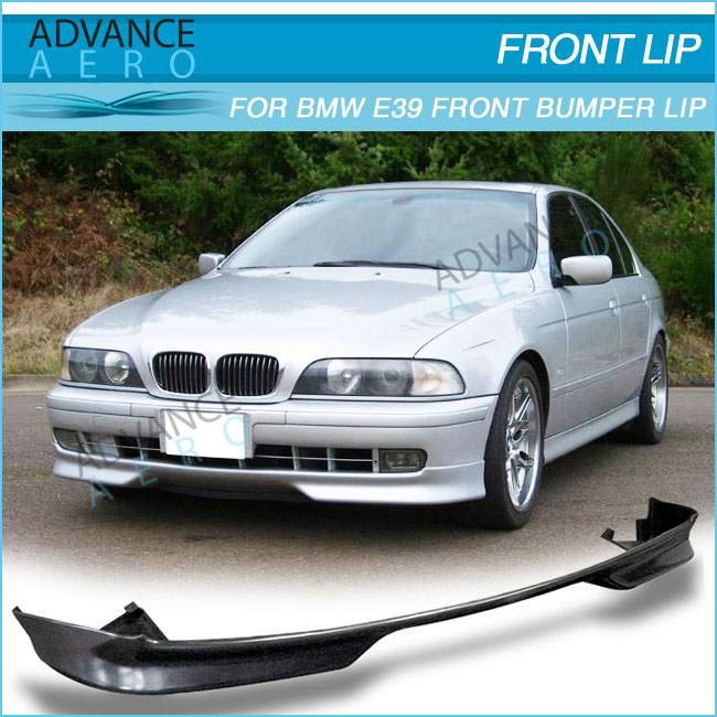 FOR BMW E39 96 97 98 99 00 5 SERIES MTEC PU FRONT BUMPER LIP SPOILER BODY KIT