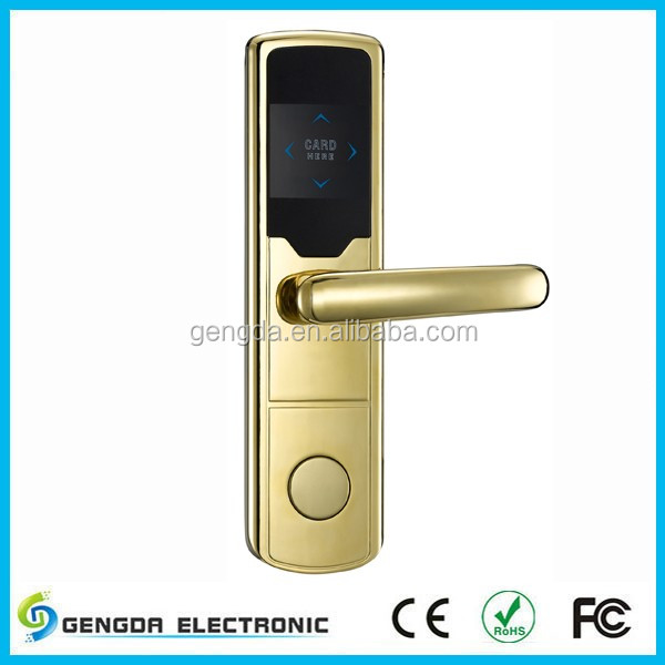 Electronic swipe card door lock with good quality