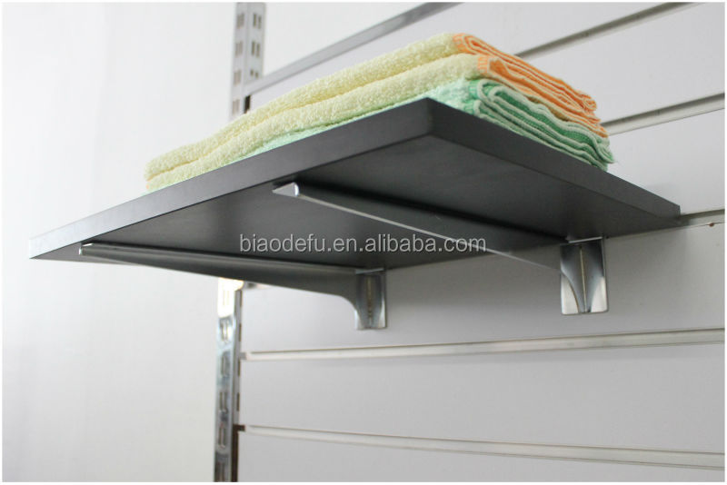 New Chrome Glass Shelf Brackets For Slatwall With Suction Pads For ...