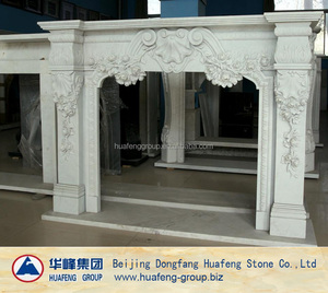 Beautiful hand made marble fireplace hearth