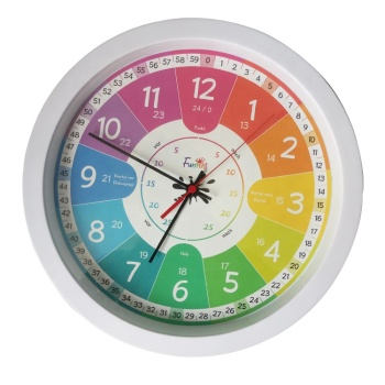 Educational school teaching wall clock